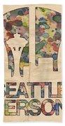 Seattle Supersonics Poster Vintage Beach Sheet