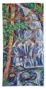 Secluded Waterfall Beach Towel