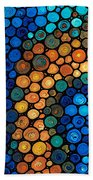 Second Chances - Abstract Art By Sharon Cummings Beach Towel