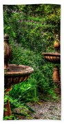 Secret Garden Birdbath Beach Towel