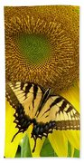 Secret Lives Of Sunflowers Beach Towel