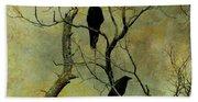 Secretive Crows Beach Towel