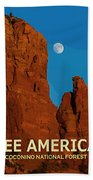 See America - Coconino National Forest Beach Towel