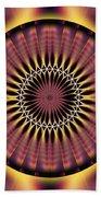 Seed Of Life Kaleidoscope Beach Towel