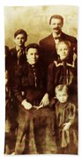 Seei Family Portrait Circa 1906 Beach Sheet