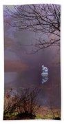 Selene Moon Goddess Fogged In Beach Sheet