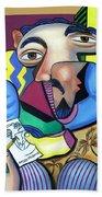 Self Portrait 101 Beach Towel by Anthony Falbo