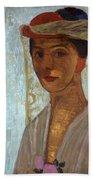 Self Portrait, 1906-7 Beach Towel