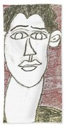 Self-portrait As A Young Man Beach Towel