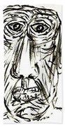 Self-portrait As An Old Man Beach Towel
