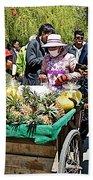 Selling Fresh Pineapple On Street In Lhasa-tibet    Beach Towel