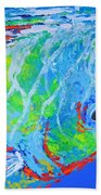 semi abstract Mahi mahi Beach Towel
