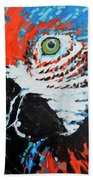 Semiabstract Parrot Beach Towel