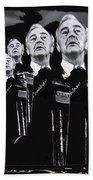 Senator Eugene Mccarthy  Collage Democratic Nat'l Convention Miami Beach Florida 1972-2012  Beach Towel