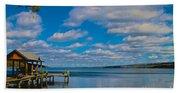 Seneca Lake At Glenora Point Beach Towel