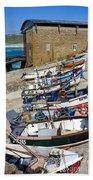 Sennen Cove Fishing Fleet Beach Towel