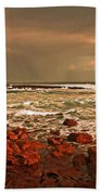 Sennen Storm Beach Towel by Linsey Williams