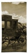 Sepia Stagecoach Beach Towel