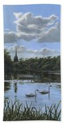 September Afternoon In Clumber Park Beach Towel by Richard Harpum
