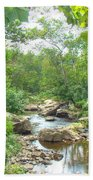 September Arrives At The Unami Creek Beach Towel