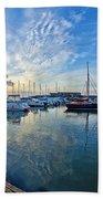 September Morning At Lyme Regis Beach Towel