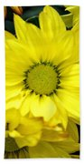 September Yellow Beach Towel