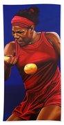 Serena Williams Painting Beach Towel