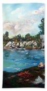 Serene River Beach Towel