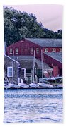 Serene Seaport Beach Towel