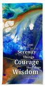 Serenity Prayer 4 - By Sharon Cummings Beach Sheet