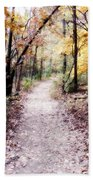 Serenity Walk In The Woods Beach Towel