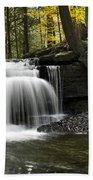 Serenity Waterfalls Landscape Beach Towel by Christina Rollo