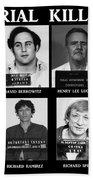 Serial Killers - Public Enemies Beach Towel