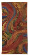 Set To Music - Original Abstract Painting Painting - Affordable Art Beach Towel