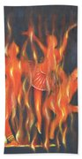 Setting The Stage On Fire Beach Towel
