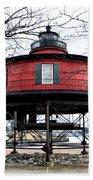 Seven Foot Knoll Lighthouse - Baltimore Beach Towel