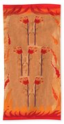 Seven Of Wands Beach Towel