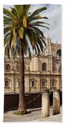 Seville Cathedral In Spain Beach Sheet