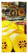 Sew A Needle Pulling Cable Dockside At Port Fourchoun Louisiana Beach Towel