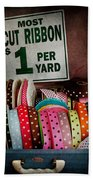 Sewing - Ribbon By The Yard Beach Towel by Mike Savad