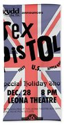 Sex Pistols First Us Appearance Beach Towel