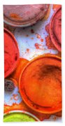 Shades Of Orange Watercolor Beach Towel by Heidi Smith
