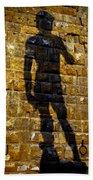 Shadow Of Michaelangelo's David Beach Towel