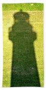 Shadow Of Tybee Lighthouse Beach Towel