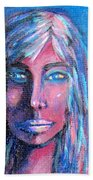 Shadow Woman Beach Towel