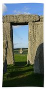 Shadowy Stonehenge Beach Towel