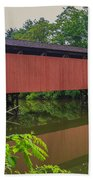 Shaeffer Or Campbell Covered Bridge Beach Towel