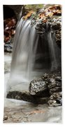 Shale Creek Waterfall Beach Towel