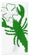 Shamrock Lobster With Feelers 458 20120114 Beach Towel