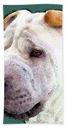 Shar Pei Art - Wrinkles Beach Sheet